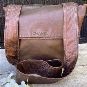 Authentic Chanel Shimmer Crossbody /Messenger Bag
